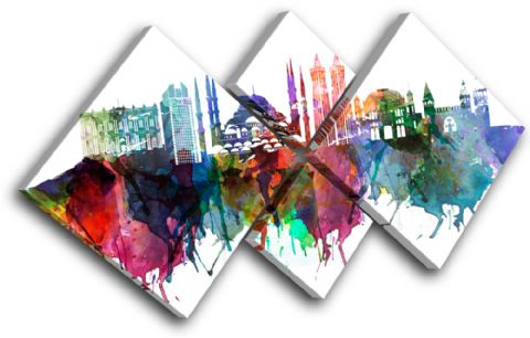 Istanbul Watercolour City - 13-6037(00B)-MP19-LO